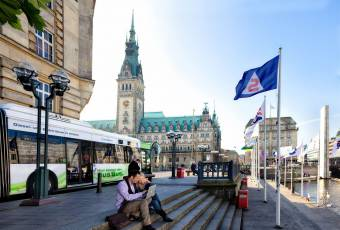 Klassenfahrtenfuchs - Klassenfahrt Hamburg - Pause in der City