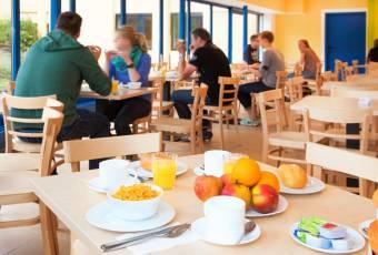Klassenfahrt nach Salzburg – Klassenfahrtenfuchs – A+O Salzburg Frühstück