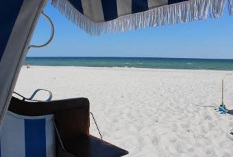 Klassenfahrtenfuchs - Klassenfahrt Boltenhagen - Blick aus Strandkorb