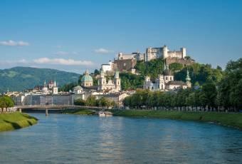 Klassenfahrt nach Salzburg – Klassenfahrtenfuchs - Blick vom Müllnersteg auf die Salzburger Altstadt