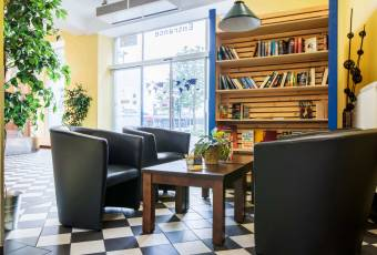 Klassenfahrt Ruhrgebiet - A&O Hostel Dortmund - Lobby