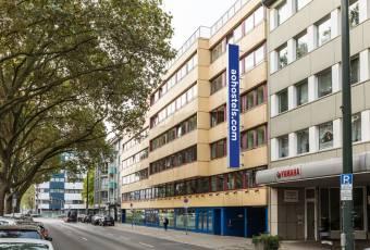 Klassenfahrtenfuchs-Klassenfahrt Düsseldorf-a&o Hostel Außenansicht