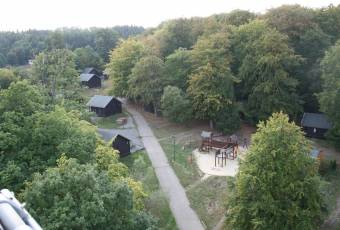 Klassenfahrtenfuchs-Klassenfahrt Güntersberge-Blick auf das Camp